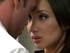 Asian woman gets fucked in the office