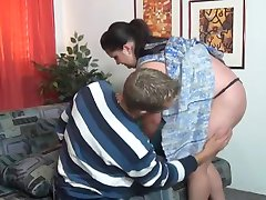 German BBW and Young Boy.