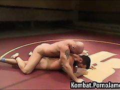 Naked guys wrestling