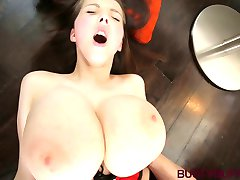 Teen Buffy gets cum on her spectacular natural boobs