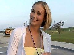 Cute Blonde Soccer Mom