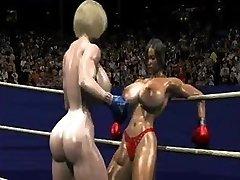 FPZ3D S vs G-3D Toon Fistfight Kissatappelu Isot Tissit Yksipuolinen