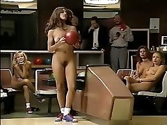 Jacqueline Lovell and other huge-chested babes go bowling in the nude