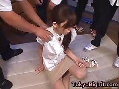 Asian Cougar Rina Tomoa Gets Sprayed part2