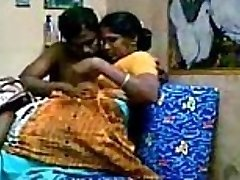 Aunty with her devor, together liking Getting Romped After Heavy Boobs Sucking - Wowmoyback