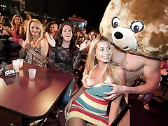 Pretty Faces Get Drilled By The Dancing Hairy Man
