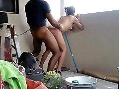 Desi young duo having hoteest hookup in balcony