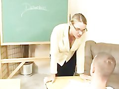 Hot Teacher trying to get her student to pay attention