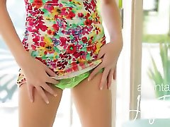 green panties and green vibrator