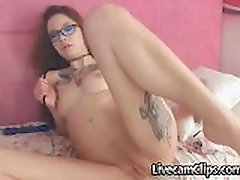 Emo Asian Tattooed Teen On Webcam Loves Anal