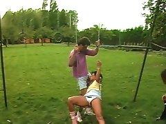 Sweet Brunette fucked Outdoors!