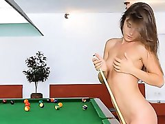 The most erotic pornstar on billiards