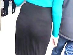 Sexy hijabi waking in heels