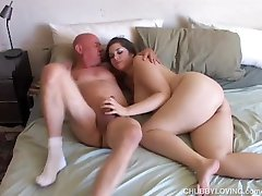 Big tits beauty is a super sexy chubby honey