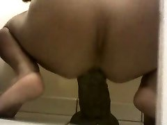 Anal  Play with my big black dildo (insertion) by  -Blackhole-