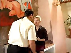 Horny MILF boss calls the shots, in the office and in the sack