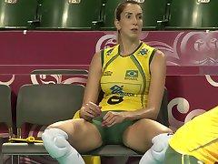ऊपर बंद शॉट्स ब्राजील सेक्सी वॉलीबॉल टीम