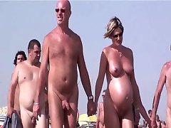 French nudist beach Cap d'Agde people walking nude 04