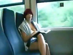 Teen girl doesn public flashing on train
