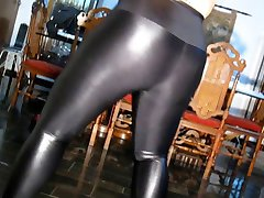 chubby in shiny leggings & pantyhose
