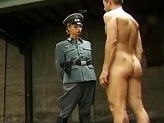 Nazi Squeezes the Confession out with Her Pussy and Ass