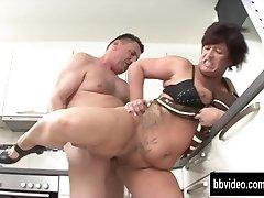 German milf eat plumber dick