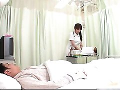Horny JPN nurse doing body exam to this part1