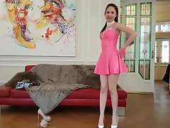 19 years old REBECCA VOLPETTI leather latex and high heels