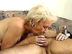 Granny can deepthroat