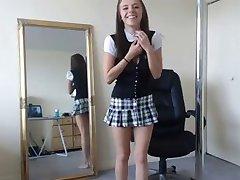 Schoolgirl strip