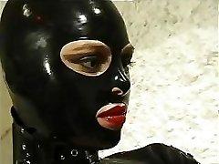 Super Hot cat woman in leather suit does anything she wants to her insatiable slave