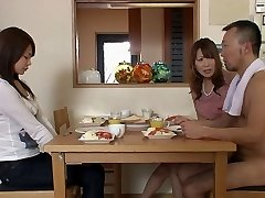 Two guys and 2 nymphs gets naked in the living room
