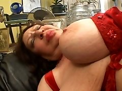 Fat mature deep-throating on Strap-on
