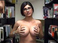 Mia Khalifa - Library Nakedness