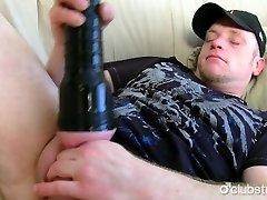 Obese Straight Damien Masturbating