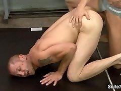 Naughty sporty rods Brenn Wyson and Phenix Saint suck their big cocks
