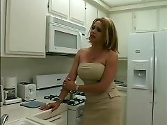 Hawt blonde tranny gets her long thick rod sucked