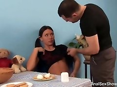 Brown-haired With Pigtails Deep Anal Invasion