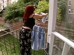 Sexy Mature Wife Attacked While Dangling Laundry - Cireman