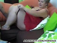 Chubby amateur Milf homemade gonzo action