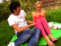 junior lovers enjyoing new outdoor sensations