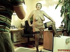 Mature whore on porn audition