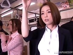 Horny Japanese model gets hard beefstick in public