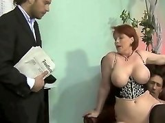 chubby german cougar threesome