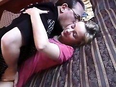 Homemade retro sex video of amateur riding dick