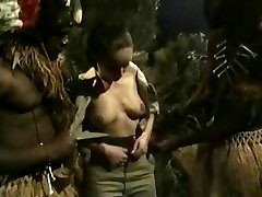 Buxom Brunette Gets Plowed By Jungle BBC Monsters