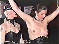 Horny fledgling BDSM, Public adult movie