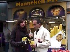 Lush dutch prostitute pumped closeup