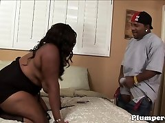 Plumper black bbw getting pussy fucked