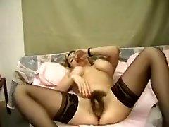 Fabulous amateur Masturbation, Faux-cocks/Toys sex flick